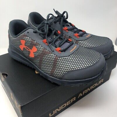 Under Armour Mens Toccoa Running Shoes Gray 3020154-101 Low Top Mesh 11 4E New