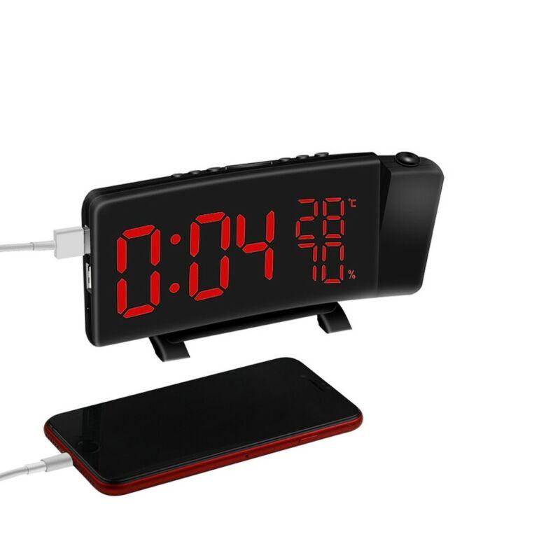 digital alarm clock projection bedroom led dual