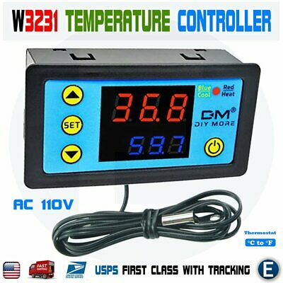W3231 Digital Dual Led Thermostat Temperature Controller Ntc Sensor 110-220v