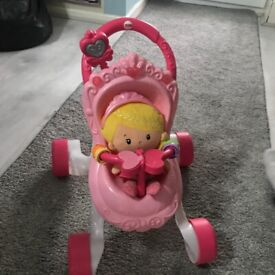 Fisher price pushchair with doll