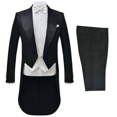 vidaXL 2tlg. Herren Frack-Anzug Bräutigam Anzug Hochzeit Slim-Fit Größe 46-56 Herren Frack