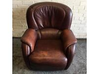 Genuine Leather Armchair From a Pet & Smoke free home