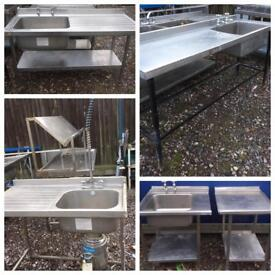 Used Catering Equipment for sale, sinks tables chairs etc.