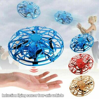 For Kids Flying Drone Quad Induction Levitation UFO Hand Operated Helicopter Toy
