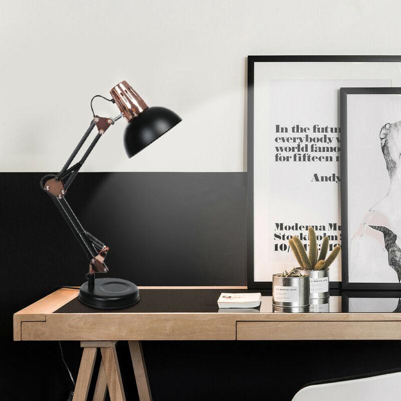Desk Lamp Flexible Swing Arm Table Light Reading Home Office