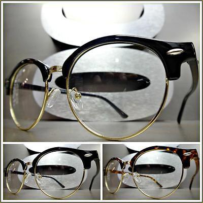 50s Fashion Women (Men's Women CLASSIC VINTAGE 50s RETRO Style Clear Lens EYE GLASSES Fashion)