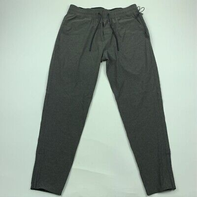 Abercrombie & Fitch Mens Pants Gray Stretch Drawstring Flat Front Pull On S New