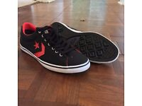 Converse Allstar Mens Size 8 Red & Black Trainers