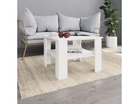 Coffee Table White 60x60x42 cm Chipboard-800207