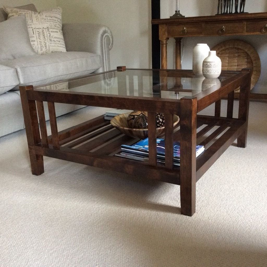 Laura Ashley Garrett Chestnut Coffee Table W Glass Top Matching Console Tablesideboard Available In Dulwich London Gumtree
