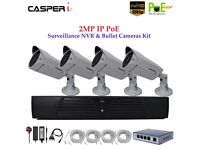 Casperi 4CH NVR SYSTEM 2MP IP POE 1080P With 2MP CCTV Bullet Camera 4Port Switch