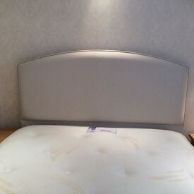 Immaculate memory foam mattress double divan bed with headboard