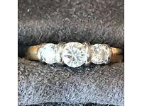 18ct Gold 0.74ct Diamond Engagement ring