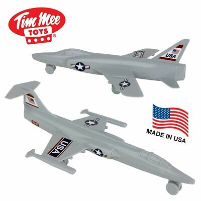 TimMee Plastic Army Men COLD WAR FIGHTER JETS - Light Gray Airplanes  Army War Airplanes