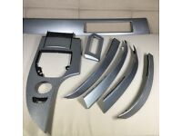 BMW E60 E61 5 SERIES CUBE ALUMINIUM TRIM CARBON SILVER GENUINE SET (LIMITED STOCK MAJOR CLEAR OUT)