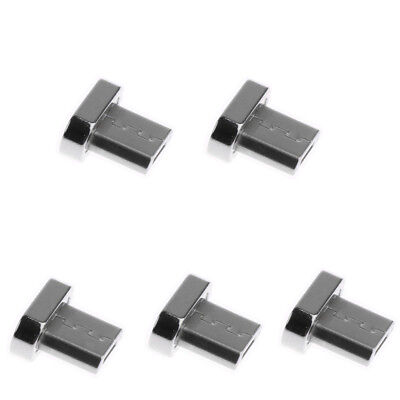 5 Pack Micro USB Male Cord Magnetic Tip Charger Connector for Android Phone Usb Charge Tip Pack