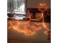 Outdoor 7 star Xmas rope light great condition