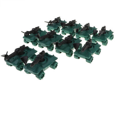 10pcs Military Sand Scene Model Plastic Toy Soldiers Kits -Armored Car