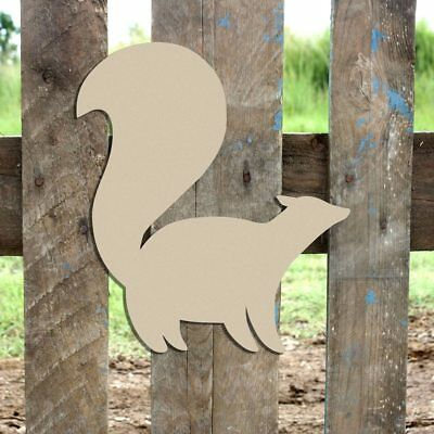 Wooden Skunk Shape, Wood Skunk Cutout, Wall Art Shape, Paintable Craft, DIY](Diy Wood Wall Art)