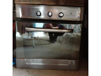 Silver Integrated electric fan oven