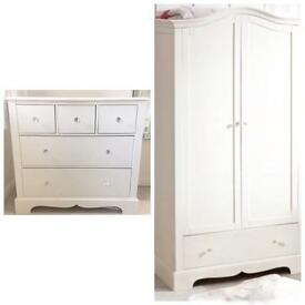 Stunning NEXT Wardrobe and drawers with Diamanté Knobs- Sophie range- NEED GONE ASAP