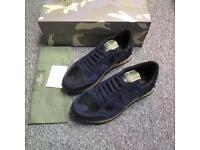 Valentino Rockstud Sneaker (Blue/Black)