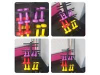 Set of dumbbells & vertical rack