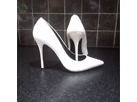 Size 8 White High Heels - Hardly Worn