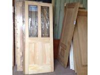 Pine glazed doors