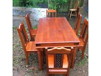 Dining Table with 6 chairs.
