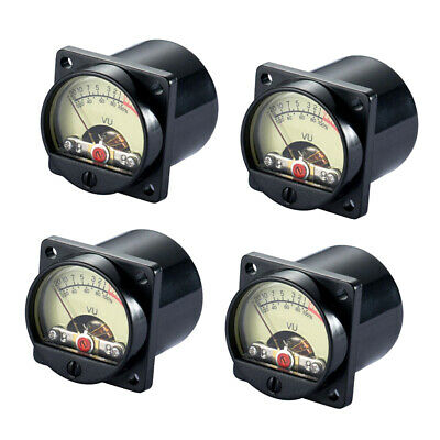 4 Pieces Vintage Analog Vu Panel Meter Audio Level Amp With Back Light Tr-35