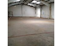 WAREHOUSE TO LET - 6 MONTHS SHORT TERM