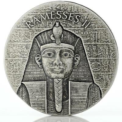 2017 2 oz Ramesses II Egyptian Silver Coin .999 Silver BU Republic of Chad #A444