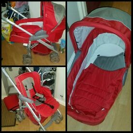 Like new pushchair and carrycot