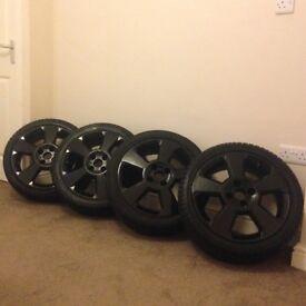 4 X Vauxhall Corsa SRi Black Alloys