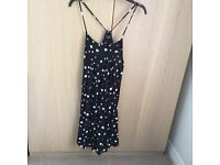 Strapy poka dot black and white dress