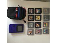 Retro Nintendo Gameboy Color (working) + 12 games (purple)