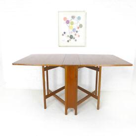 Vintage McIintosh Dining Table - Gate Leg/Drop Leaf - Teak Mid Century/Retro