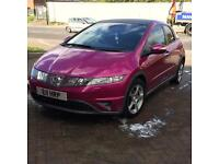 Custom pink and glittery Honda Civic for sale *cheap as has some fixable damage*