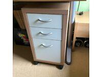 Desk drawers on wheels