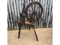 Antique Spinning Wheel Decorative Item