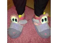 Unicorn slippers 💜