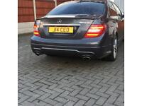 Mercedes C350 comes with private plate