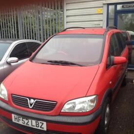 Vauxhall Zafira 2.0 DTi 16v 5 Door 7 Seater