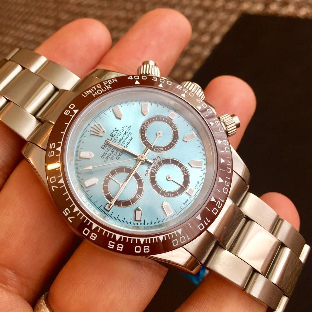 Daytona blue dial stainless steel reduced from £195 to ***£165***