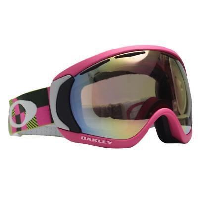 b938d439707 Oakley 57-782 CANOPY Digi Camo Green VR50 Pink Iridium Lens Snow Ski  Goggles .