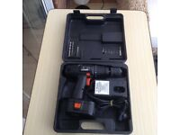 Wickes 18V Cordless Hammer Drill with Battery, Case + Charger - Little Used