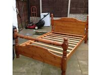 Double bed.solid pine.very strong.can deliver