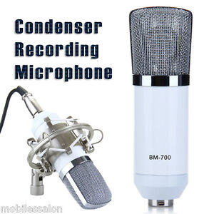 UK - Studio Condenser Microphone Recording Vocal Singing Mic for PC Computer Amp