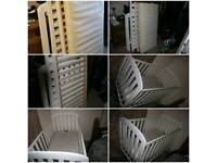 Baby cot bed and mattress